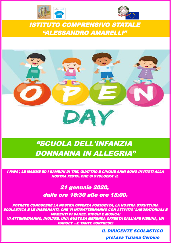 locandina open day donnanna 2020